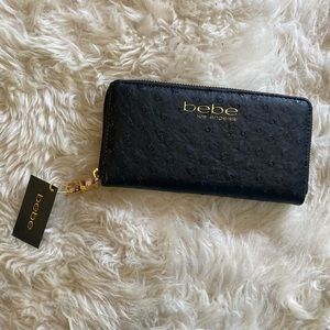 NWT Bebe clutch/wallet leather